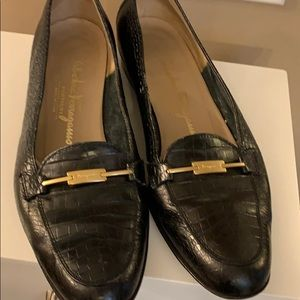 Ferragamo black shoes. Size 7